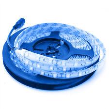 Striscia strip blue light 300 LED SMD 5050 60W luce BLU 5 metri 12V esterni IP65