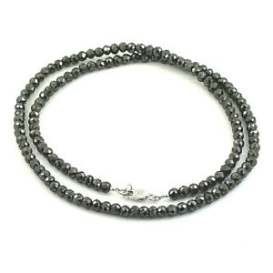 4mm Black Diamond Necklace-Certified AAA Quality Diamonds,Excellent Cut & Luster