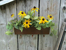 """New listing 12"""" Small Rustic Wrought Iron Metal Flower Planter Garden Decor Handmade in Usa"""