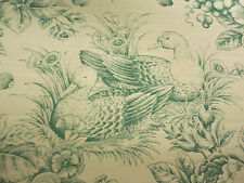 Forrest Green Linen Drapery Upholstery Jay Yang 1994 Retired Fabric  By The Yard