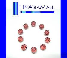 10 Swarovski Crystal Beads Round 5000 PADPARADSCHA 6mm