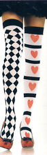 Leg Ave 6315 Women's Stockings Thigh High Harlequin & Hearts Reg Red White Black