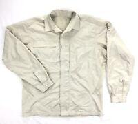 Mountain Hardwear Mens Medium Gray Nylon Vented Shirt Long Sleeve Button Up