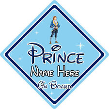 Personalised Disney Prince On Board Car Sign – Baby On Board Beauty & The Beast