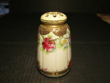 Beautiful Old Nippon Roses & Gold Decorated Table Sugar Shaker