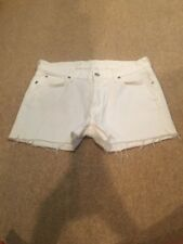 7 For All Mankind White Cut Off Shorts Size 31 NWOT