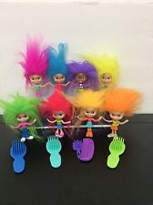 Lot Of 8 Trollz Dolls Made For Mcdonalds Colorful Crazy Hair