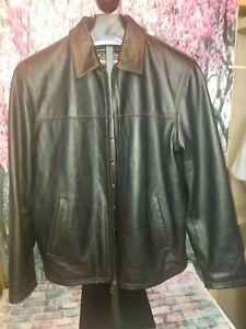 Columbia Black Men's Leather Jacket X-Large