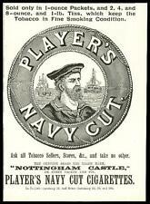 1896 Antique Print - ADVERTISING Players Navy Cut Nottingham Castle Tobacco (31)