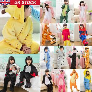 Onsie10AA Kids Costume Fancy Dress Cosplay Child Unisex Hooded Animal Pajamas