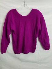 Vintage Studio Hq Purple Wool & Angora Blend Pullover Sweater Size M