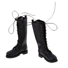 1/6 PU Leather Boots Male Shoes for 12'' Action Figure Body Accessories A