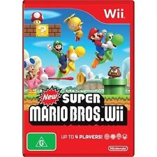 New Super Mario Brothers For Nintendo Wii With Manual And Case Very Good 2Z