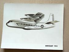 Photo Ancienne Avion BREGUET 941  (11)  Aviation  Plane brochure prospekt