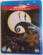 THE NIGHTMARE BEFORE CHRISTMAS Brand New 3D BLU-RAY 1993 Tim Burton 3D movie