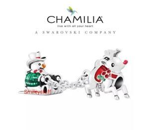 Genuine, CHAMILIA 925 Silver 2017 LE Friends Sledding / Sledge Charm 2025-2379