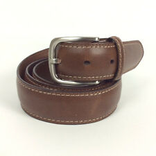 Dickies Mens Belt Size 44 Brown Genuine Leather