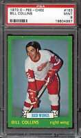1973-74 O-PEE-CHEE #163 BILL COLLINS PSA 9 RED WINGS  *CG3313