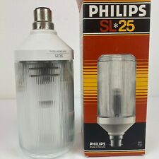 Vintage Collectors Philips SL25 Prismatic Bean Can Fluorescent Lamp Brand New