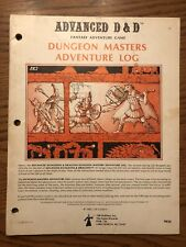 DUNGEON MASTERS ADVENTURE LOG 1980 Dungeons & Dragons 1st Edition