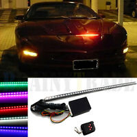 7 Color 48 LED RGB Scanner Flash Car Strobe Knight Rider Kit Light Strip 22 inch