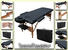 Massage Table Portable Bed Tattoo Tables Facial Spa Carry Case 84 W L Chair Pad