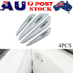 4PCS Silver Car Door Edge Guards Trim Molding Anti-Scratch Strip Protector