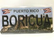 PUERTO RICO BORICUA Isla Del Encanto METAL NOVELTY LICENSE PLATE FOR CARS TRUCKS