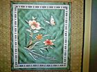 Vintage Asian Embroidery Silk Tapestry Wall Hanging Butterfly Flowers Matted