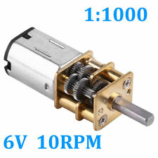 1:1000 DC 6V 10 RPM High Torque Reduction Gear Motor Gearmotors Small Size 12mm