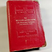 Vintage Western Southern Life Book Bank * Red Cover * No Key