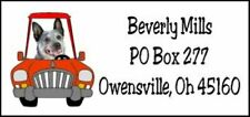 360 peices labels & seals Australian Cattle Dog Driving Car Acd