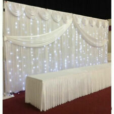 X Wedding Backdrop Stage Photography Background Curtains With Swag