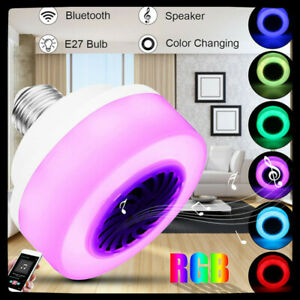 RGB Phone Music Control Play Lamp E27 LED Wireless Bluetooth Bulb Light Speaker