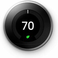 Google Nest Smart Learning Wi-Fi Thermostat 3rd Generation - Stainless Steel