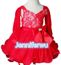 15 color-Infant/toddler/kids/baby/Girl's Pageant/prom/formal Dress size1-7G271-2