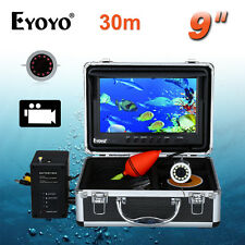 30m 9 inch 1000TVL LCD IR Underwater Video Camera 8GB Fish Finder DVR Sunshield