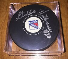 Gilles Villemure Signed New York Rangers Hockey Puck With Holo COA Free Shipping