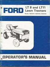 Ford LT8 and LT11 Lawn Tractors Operator's Manual