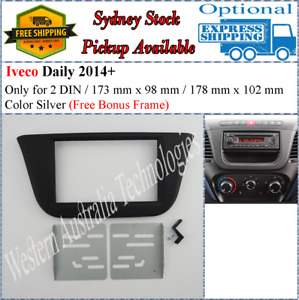 Fascia facia Fits Iveco Daily 2014+ Double Two 2 DIN Dash Kit