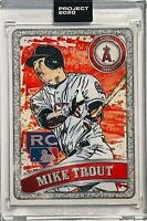 MIKE TROUT 2020 TOPPS LOS ANGELES ANGELS SLABBED UNCIRCULATED SEALED ART RC CARD