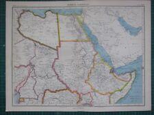 1952 LARGE MAP ~ AFRICA NORTH EAST SECTION ~ SUDAN ETHIOPIA EGYPT LIBYA