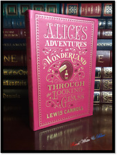 Alice in Wonderland & Through the Looking Glass Carroll New Leather Collectible