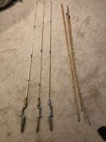 Vintage Casting Fishing Rods Bamboo Lot Of 4 See Condition and description!
