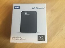 Western Digital Elements 2TB External HDD (WDBU6Y0020BBK-WESN) USB powered