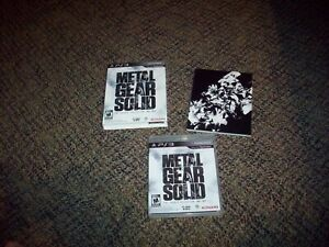 Metal Gear Solid: The Legacy Collection  (PS3, 2013) with artbook + cover