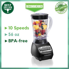 Hamilton Beach Smoothie Electric Blender with 10 Speeds, 56 oz. BPA-free Plastic