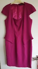Trinny and Susannah size 14, lined & patterned ? mauve/? Mauvey pink dress.