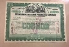 CONNECTICUT RAILWAY AND LIGHTING COMPANY 100 SHARES AZIONI BOT BOND