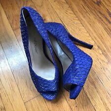 Jean Michel Cazabat Purple Silver Fish Scale Pumps Heels Sz 9 EUR 39 Shoes